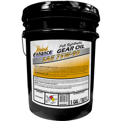 Enhance Syn Gear Oil SAE 75W90 Pail