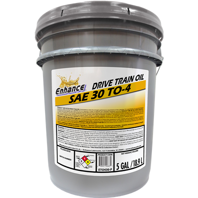 Enhance TO-4 Drive Train SAE 30 Pail
